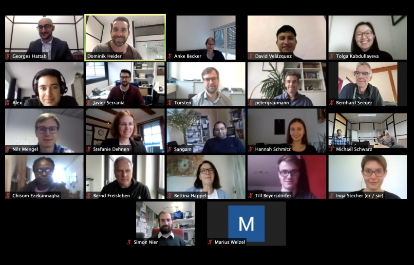 A screenshot of all MOSLA members at a web conference